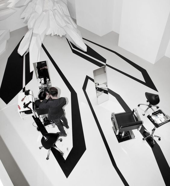 Zaha Hadid Architects, Marcus Peel · Fudge Pop-Up Hair Salon 1